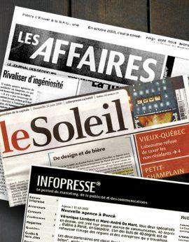 Journal Les Affaires // Le Soleil // Infopresse